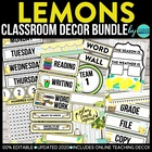CLOUDS &amp; SUN - classroom design bundle (grey and yellow theme)