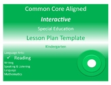 COMMON CORE ALIGNED SPECIAL EDUCATION INTERACTIVE LESSON P