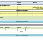 COMMON CORE Lesson Plan Template*Editable Excel Sheet:)