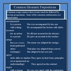 COMMONLY USED IDIOMATIC PREPOSITIONS