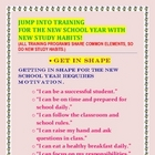 CONFIDENCE BUILDER-BACK TO SCHOOL POSTER/HANDOUT