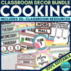 COOKING / BAKING Theme EDITABLE Classroom Essentials-34 Pr