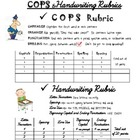 COPS and Handwriting Rubric - 4th Grade