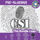 CSI: Pre-Algebra -- STEM Project -- Complete eBook