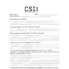 CSI: Video Guide (Crime Scene Forensics)