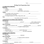 CST Writing Test Prep - 4 Genre Outlines (7th grade)