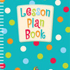 Dots on Turquoise Lesson Plan Book