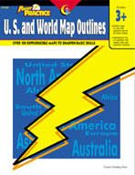 Power Practice U.S. and World Map Outlines