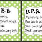 CUBE &amp; UPS Check Math Posters &amp; Student Reminder Page: Lim