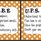 CUBE &amp; UPS Check Math Posters &amp; Student Reminder Page: Ora