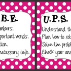 CUBE &amp; UPS Check Math Posters &amp; Student Reminder Page: Pin
