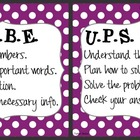CUBE &amp; UPS Check Math Posters &amp; Student Reminder Page: Pur