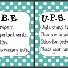CUBE &amp; UPS Check Math Posters &amp; Student Reminder Page: Tur
