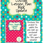 CUSTOM Lesson Plan Book Update