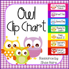 CUTE!!! Owl Clip Chart Labels