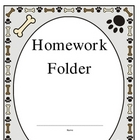 CUTE PUPPY THEME! Elementary Work Folders / Daily Folders Covers