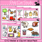 CVC Medial &#039;a&#039; Clip Art Value Pack - Personal or Commercial Use