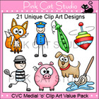 CVC Medial 'o' Clip Art Value Pack - Personal or Commercial Use