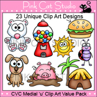 CVC Medial 'u' Clip Art Value Pack - Personal or Commercial Use