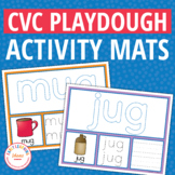 CVC Play Dough Activity Mats : Build It, Trace It, Write It Mats
