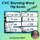 CVC Flip Books - 21 Word Families in Black Line Only