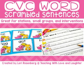 CVC Scrambled Sentences