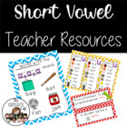CVC Short Vowel Teacher Resources and Centers Unit