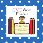 CVC Short Vowel Word Family Sorts Literacy Centers include