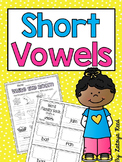 CVC Word Work Interactive Activites