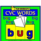 CVC WORDS Flip Booklets