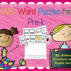 CVC WOrd Puzzles for Pre-k Freebie:  A Picture/Word Matchi