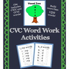 CVC Word Work Activities: Build 150+ words with a vowel tr
