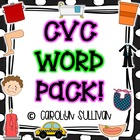 CVC Word Packet - Common Core Standards and Assessments Included