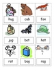 CVC Word Picture Cards for Centers and Phonics Intervention
