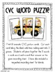 CVC Word Work Choice {Literacy Centers}