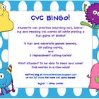 CVC Words BINGO!  FUNdations Connected!