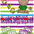 CVC Words CONCENTRATION!  FUNdations Connected!