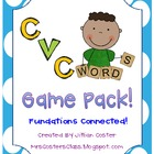CVC Words GAME PACK!!  FUNdations Connected!