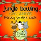 CVC Words Literacy Centers - Jungle Bowling