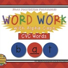 CVC Task Cards {Word Work with Alphacaps}