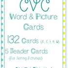 CVC Words and Pictures (90 Cards!)