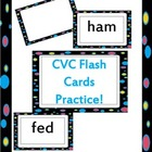CVC flash cards practice