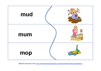 CVC word puzzle - literacy resource (word recognition)