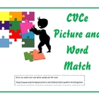CVCe Picture and Word Match