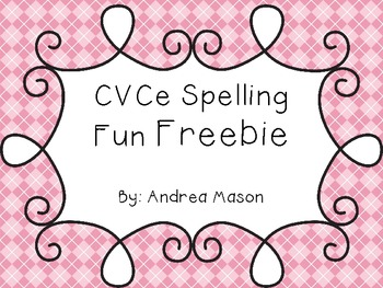 CVCe Spelling Fun Freebie!
