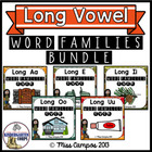 Long Vowels CVCe Words BUNDLE - Sorting Word Families