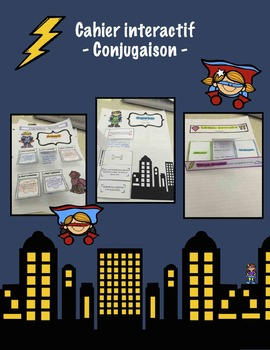 Cahier interactif - Conjugaison - French interactive notebook verbs