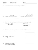 Calculus Derivatives Test