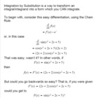 Calculus - Integration By Substitution