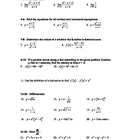 Calculus Mid-Term Study Guide